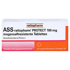 ASS-ratiopharm PROTECT 100mg magensaftr. 50 Stück N2 - Vorderseite