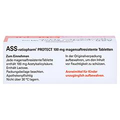 ASS-ratiopharm PROTECT 100mg magensaftr. 50 Stück N2 - Oberseite