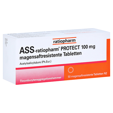 ASS-ratiopharm PROTECT 100mg magensaftr. 50 Stück N2