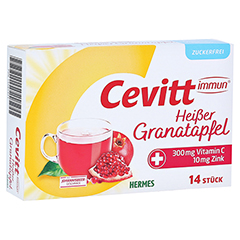 CEVITT immun heißer Granatapfel zuckerfrei Gran. 14 Stück