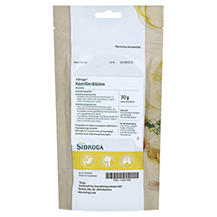 Sidroga Kamillenblüten 30 Gramm - Rückseite