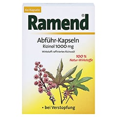 Ramend Abführ-Kapseln Rizinol 1000mg 60 Stück - Vorderseite