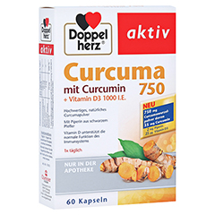 DOPPELHERZ Curcuma 750 Kapseln 60 Stück