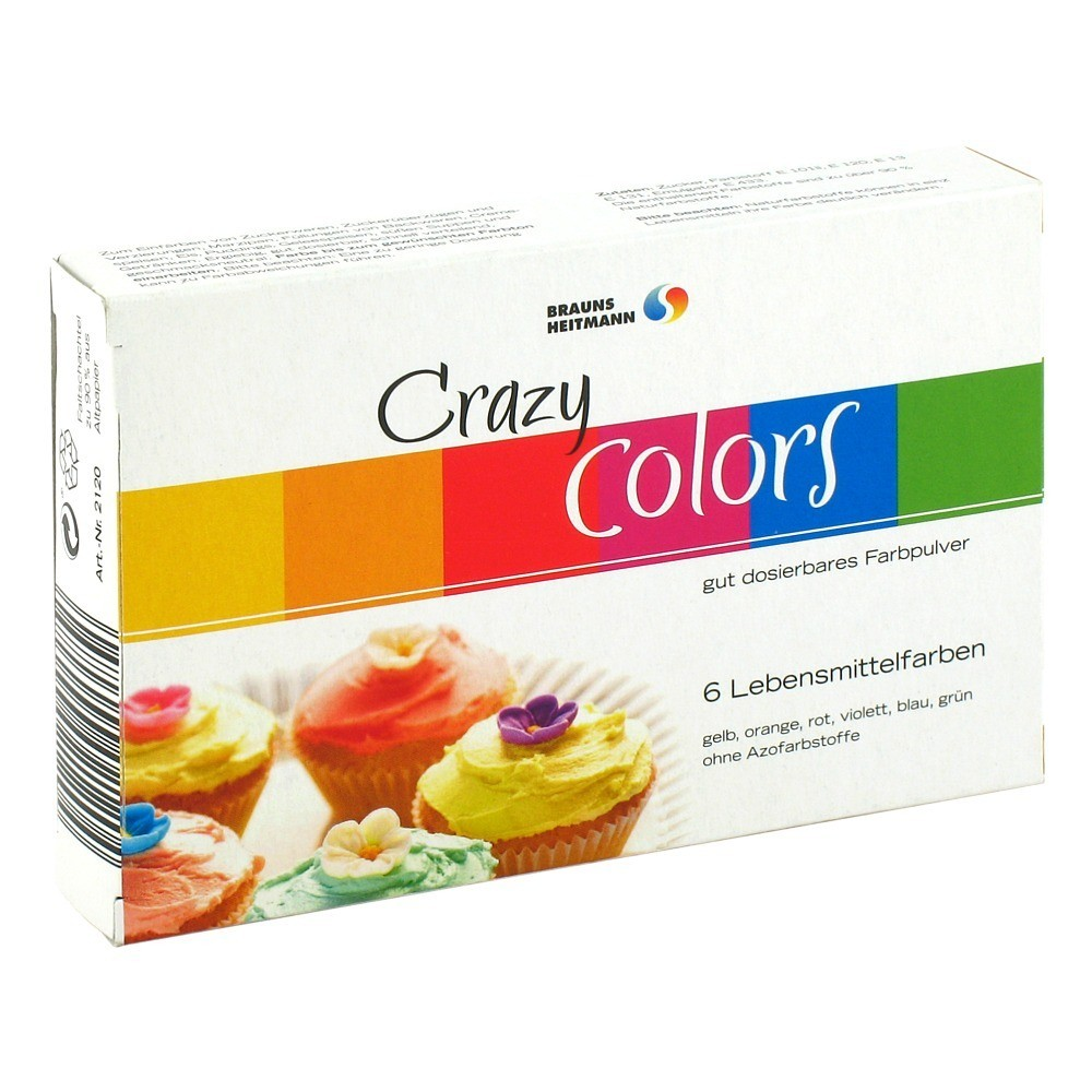 Erfahrungen zu HEITMANN Lebensmittelfarbe Crazy Color 6x4 Gramm ...