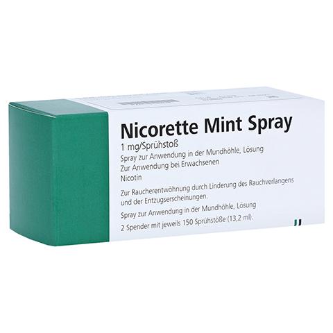 NICORETTE Mint Spray 1 mg/Sprühstoß 2 Stück