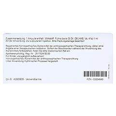 PULMO GL D 8 Ampullen 10x1 Milliliter N1 - Rückseite