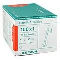 Omnifix Duo 100 Insulin Einmalspritzen 100x1 Milliliter