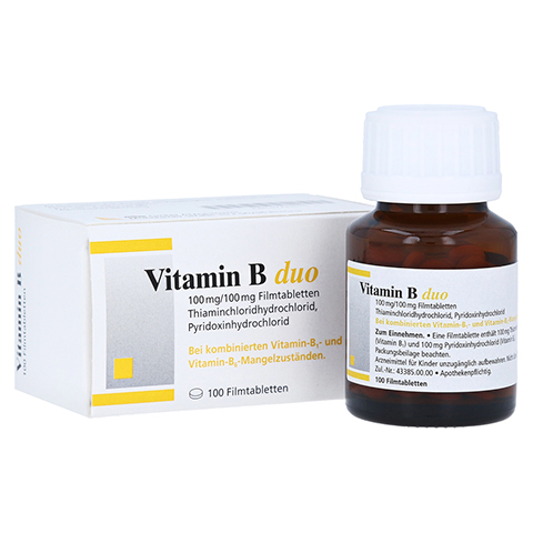 Vitamin B duo 100mg/100mg 100 Stück N3