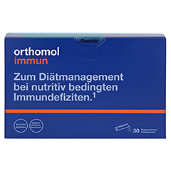 Orthomol Immun Direktgranulat Menthol-Himbeere 30 Stück - Vorderseite