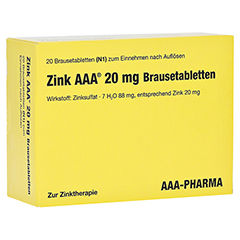 Zink AAA 20mg 20 Stück N1