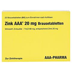 Zink AAA 20mg 20 Stück N1 - Vorderseite