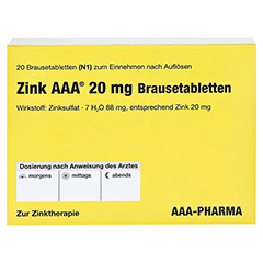 Zink AAA 20mg 20 Stück N1 - Rückseite