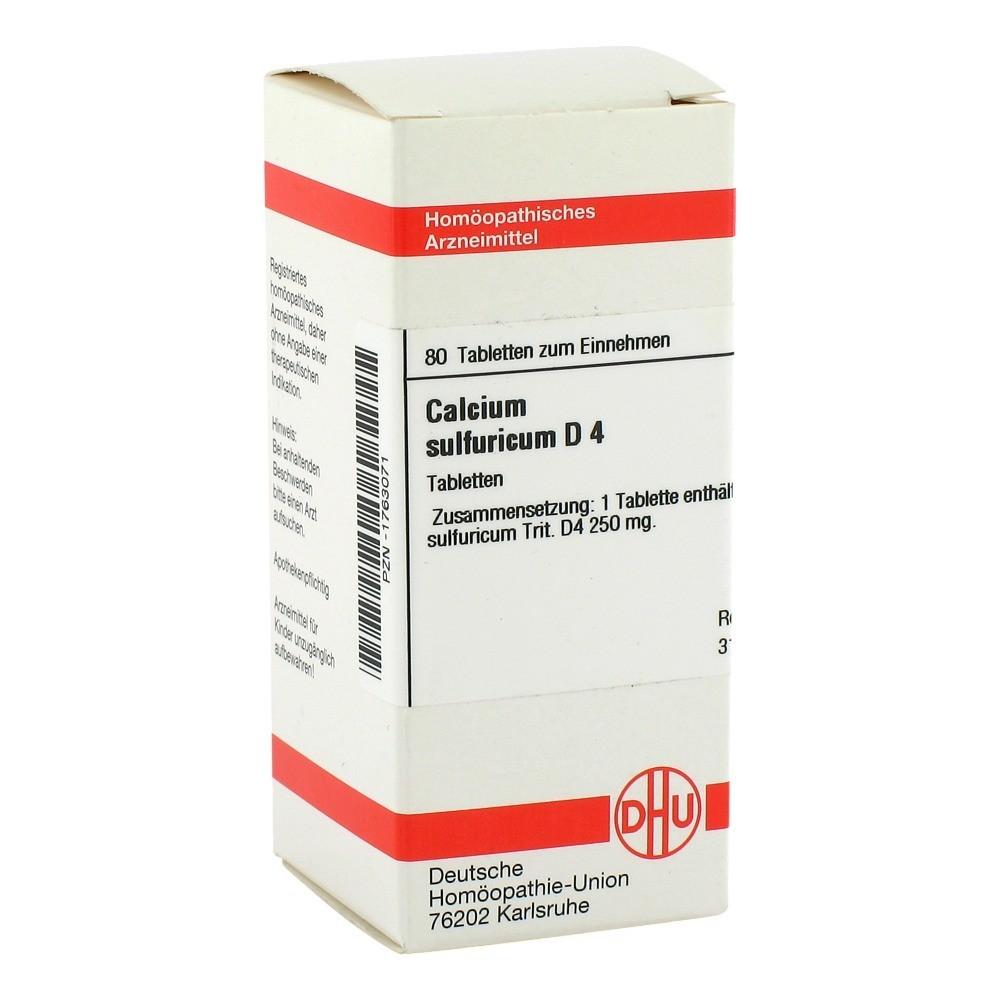 calcium sulfuricum d 4 tabletten 80 st ck n1 online bestellen medpex versandapotheke. Black Bedroom Furniture Sets. Home Design Ideas