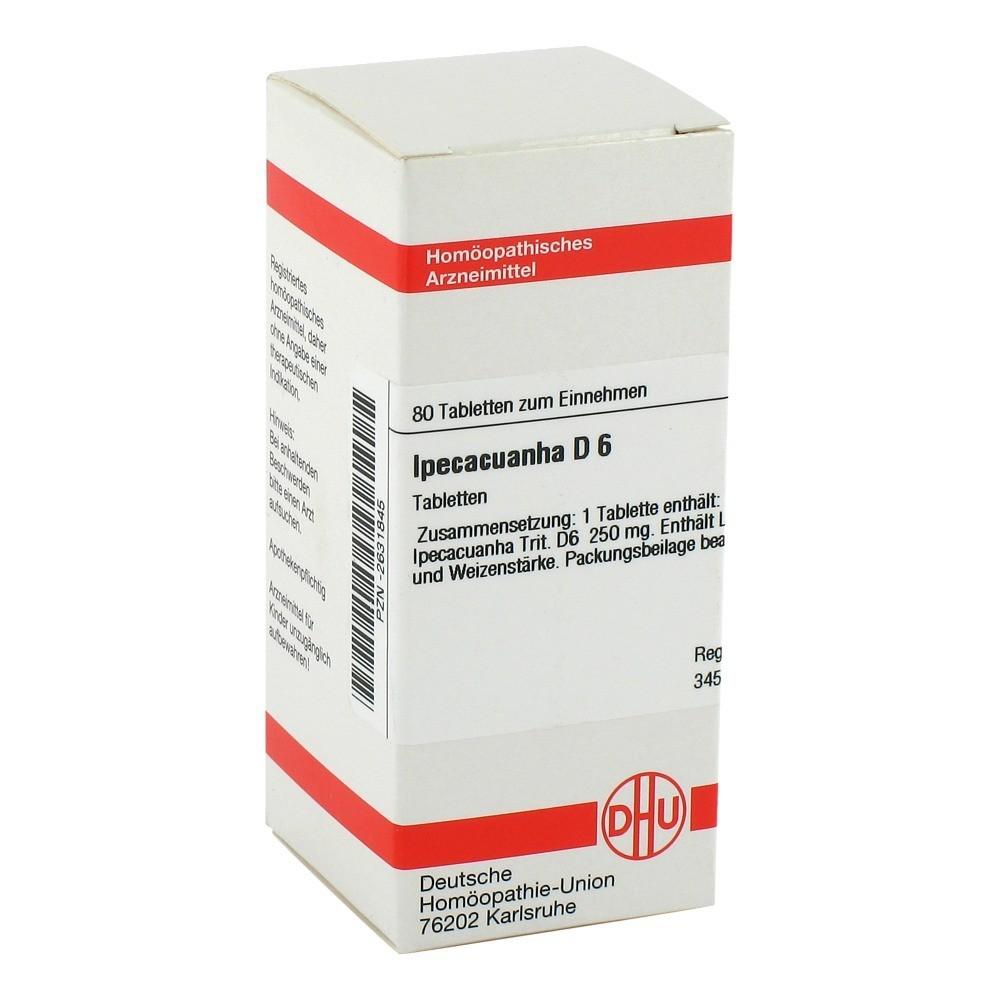 IPECACUANHA D 6 Tabletten 80 Stück N1 online bestellen ...