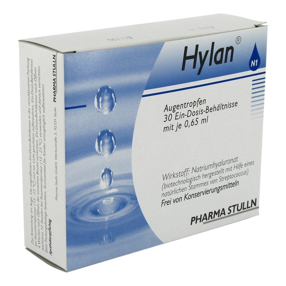 Pharma Stulln GmbH Hylan 0,015% Augentropfen Augentropfen 30 Stück