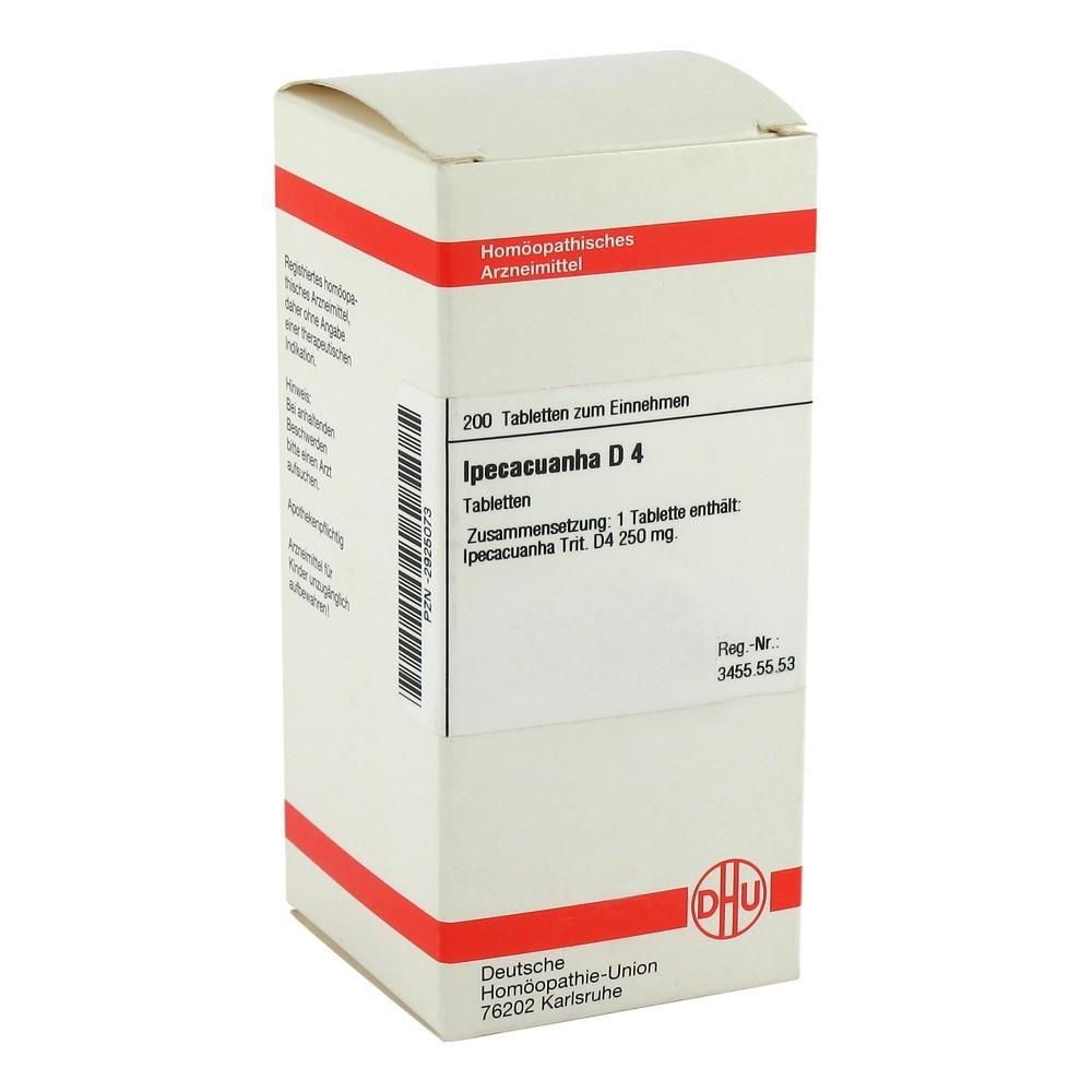 IPECACUANHA D 4 Tabletten 200 Stück N2 online bestellen ...