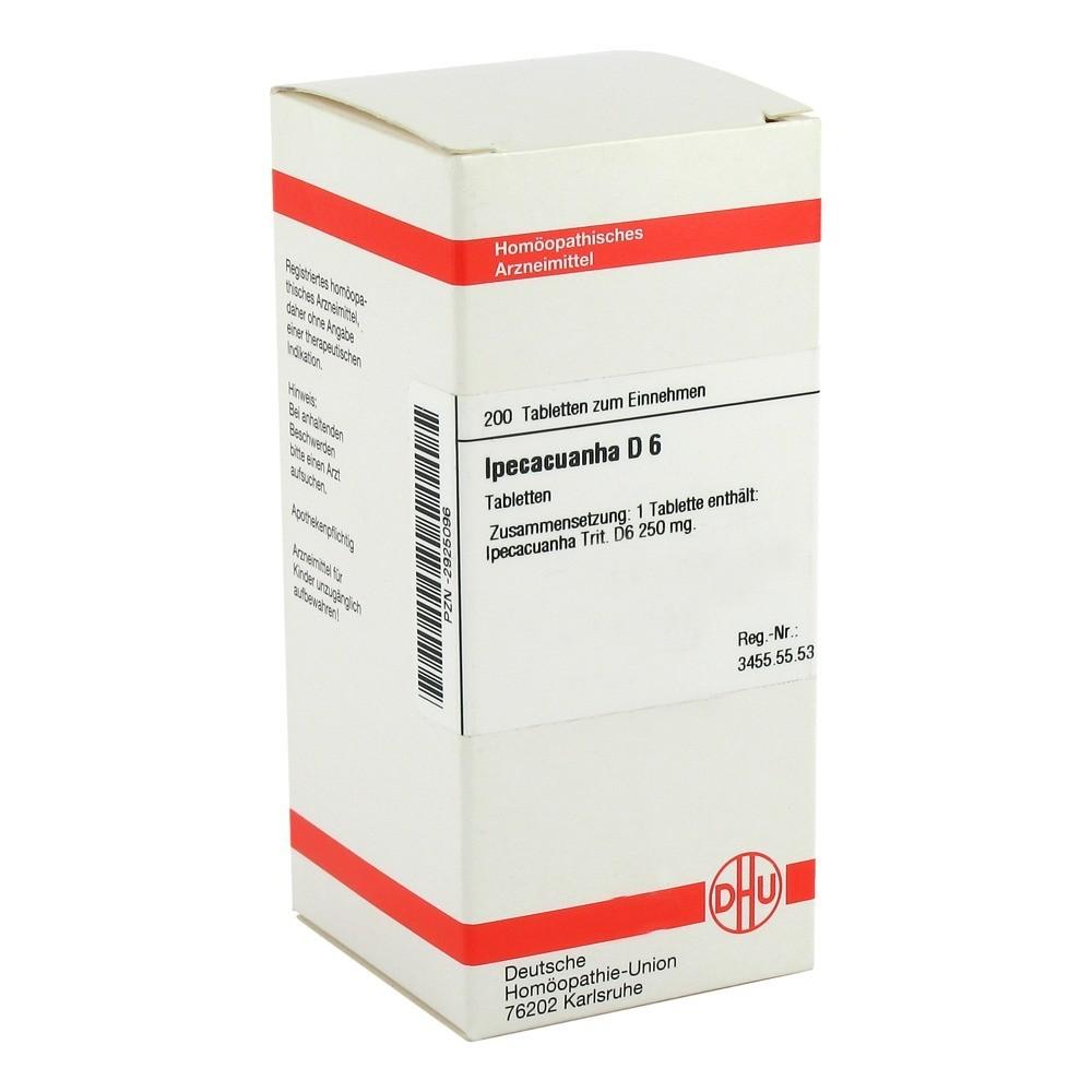 Erfahrungen zu IPECACUANHA D 6 Tabletten 200 Stück N2 ...
