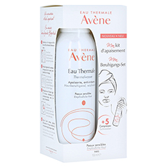 Avène Set Thermalwasser Spray 150 ml + 5 Tuchmasken 1 Packung