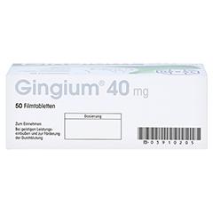 Gingium 40mg 50 Stück - Unterseite