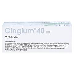 Gingium 40mg 50 Stück - Oberseite