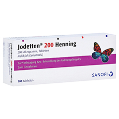 Jodetten 200 Henning 200Mikrogramm 100 Stück N3