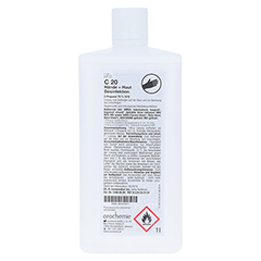 ORO C20 Hände- und Hautdesinfektion 1000 Milliliter - Rückseite