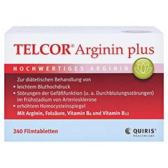 Telcor Arginin plus Filmtabletten 2x240 Stück - Vorderseite