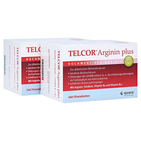 Telcor Arginin plus Filmtabletten 2x240 Stück