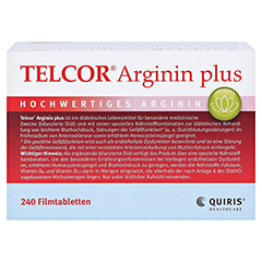 Telcor Arginin plus Filmtabletten 2x240 Stück - Rückseite