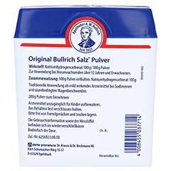Bullrich-Salz 200 Gramm - Rückseite