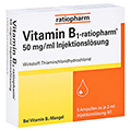 VITAMIN B1 ratiopharm 50mg/ml Inj.Lsg. Ampullen 5x2 Milliliter N1