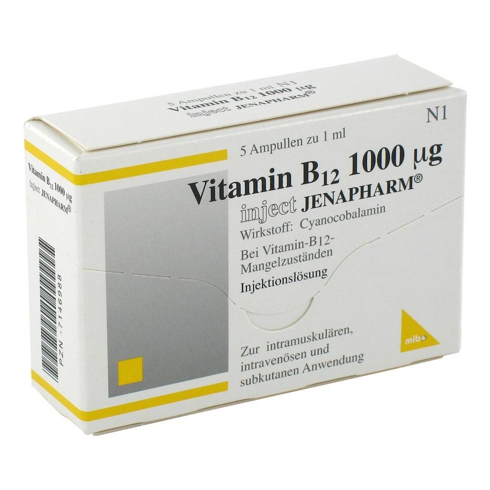 Vitamin B12 1000 µg Inject Jenapharm Ampullen 5 Stück N1 Online