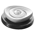 DUFTSTEIN Energiespirale Keramikteller schwarz 1 Stück