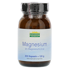 MAGNESIUM ALS Magnesiumcitrat Kapseln 200 Stück