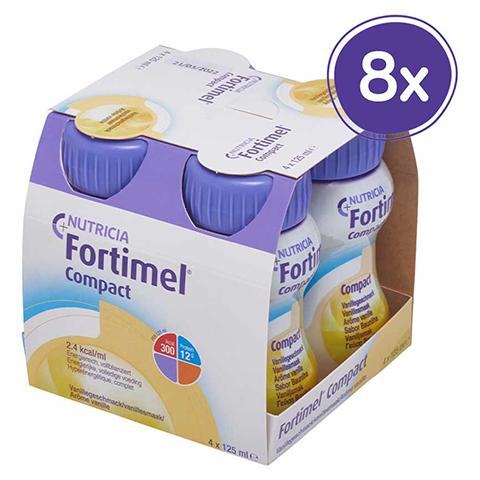 FORTIMEL Compact 2.4 Vanillegeschmack 8x4x125 Milliliter
