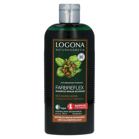 LOGONA Farbreflex Shampoo Braun-Schwarz Bio-Haselnuss 250 Milliliter