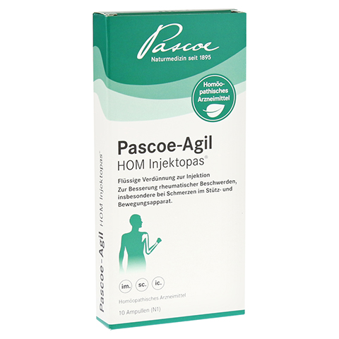 PASCOE-Agil HOM Injektopas Ampullen 10x2 Milliliter N1