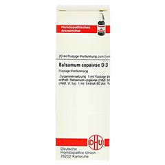 BALSAMUM COPAIVAE D 3 Dilution 20 Milliliter N1 - Vorderseite