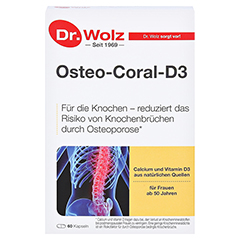 OSTEO CORAL D3 Dr.Wolz Kapseln 60 Stück - Vorderseite