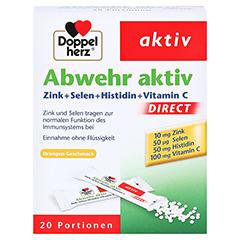 Doppelherz Abwehr Aktiv DIRECT Zink + Selen + Histidin + Vitamin C 20 Stück - Vorderseite