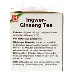 BAD HEILBRUNNER Tee Ingwer Ginseng Filterbeutel 15 Stück - Rechte Seite