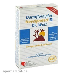 darmflora plus travelprotect dr wolz kapseln 40 st ck online bestellen medpex versandapotheke. Black Bedroom Furniture Sets. Home Design Ideas