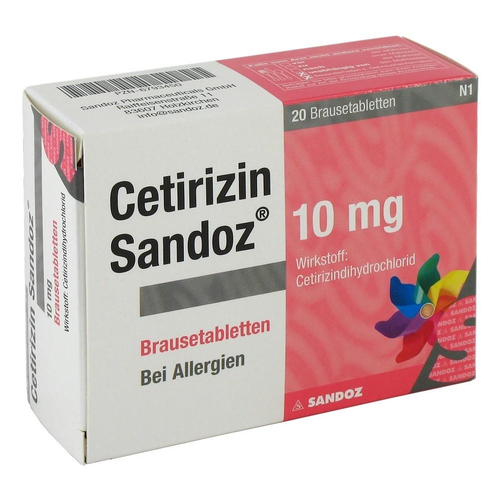 cetirizin sandoz 10 mg