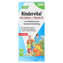 KINDERVITAL mit Calcium+D3 Tonikum Bio Salus 250 Milliliter - Vorderseite
