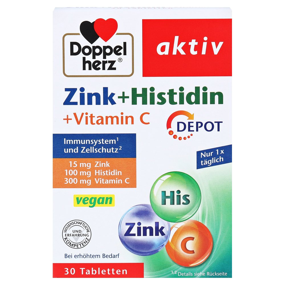 doppelherz aktiv zink histidin vitamin c depot 30. Black Bedroom Furniture Sets. Home Design Ideas