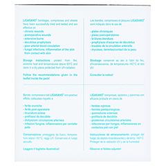 LIGASANO weiß Verband 2x5x5 cm steril+Wundputzer 10 Stück - Linke Seite