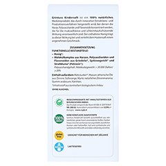 GRINTUSS Kindersaft mit Poliresin 210 Gramm - Rückseite