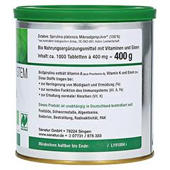 BIOSPIRULINA aus ökologischer Aquakultur Tabletten 1000 Stück - Linke Seite