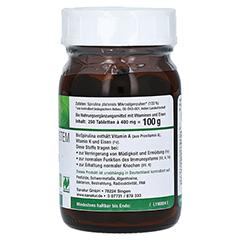 BIOSPIRULINA aus ökologischer Aquakultur Tabletten 250 Stück - Linke Seite