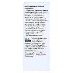 LAVERA basis sensitiv reichhalt.Feuchtigkeitscreme 50 Milliliter - Rückseite